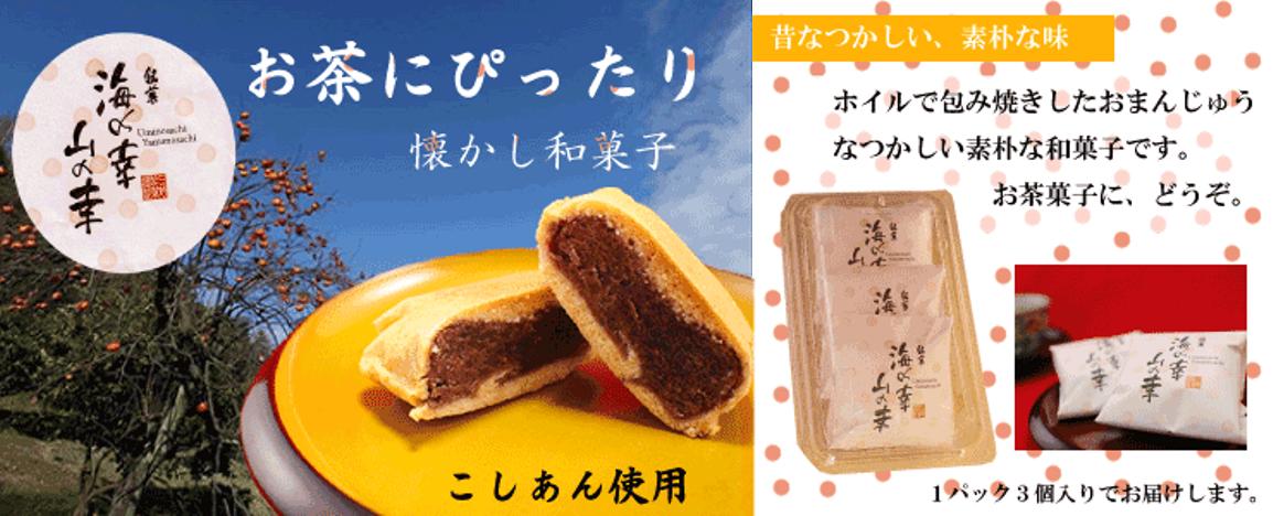 銘菓「海の幸山の幸」、懐かしい素朴な和菓子です。